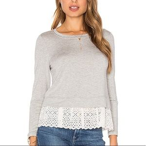 Rebecca Taylor Long Sleeve Embroidery Top Sz XS